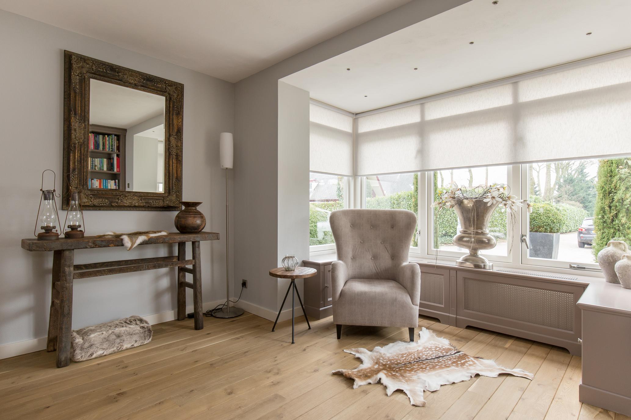Rust, eenvoud maar stijlvol oogt het nieuwe interieur.